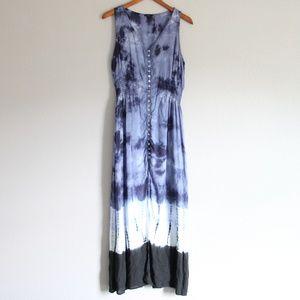 Buffalo David Bitton Blue White Tie Dye Maxi Dress